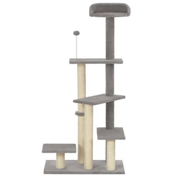 vidaXL Penjalica za mačke sa stupovima za grebanje siva 125 cm
