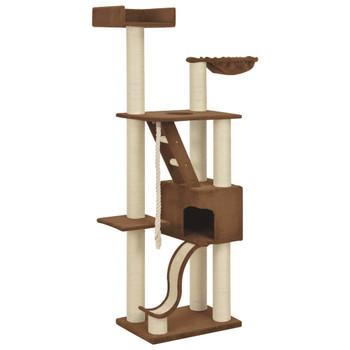 vidaXL Penjalica za mačke sa stupovima za grebanje bež 180 cm XXL