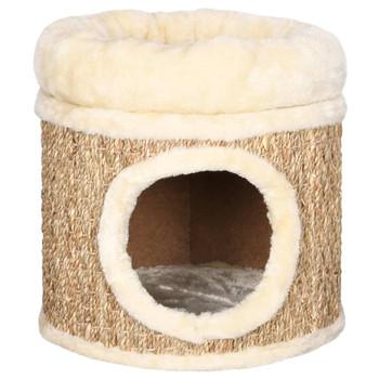 vidaXL Kućica za mačke s luksuznim jastukom 33 cm od morske trave