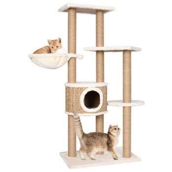 vidaXL Penjalica za mačke sa stupovima za grebanje 126 cm morska trava