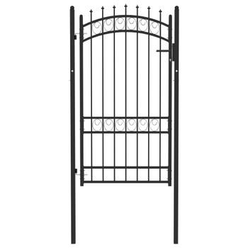 vidaXL Vrata za ogradu sa šiljcima čelična 100 x 175 cm crna