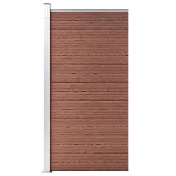 vidaXL Panel za ogradu WPC 95 x 186 cm smeđi