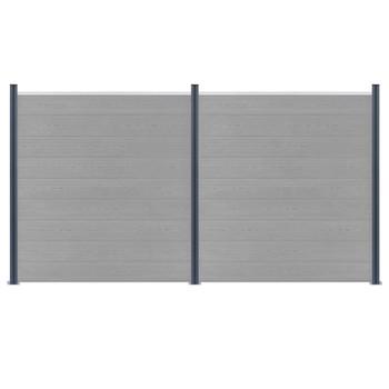 vidaXL Stupovi za ogradu 3 kom tamnosivi 185 cm aluminijski