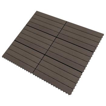 vidaXL Pločice za trijem 6 kom WPC 60 x 30 cm 1,08 m² tamnosmeđe