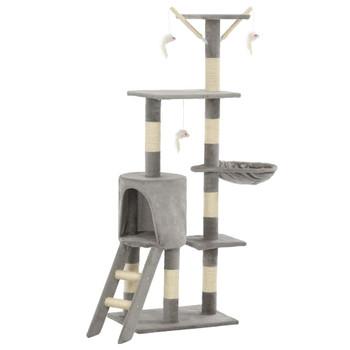 vidaXL Penjalica za mačke sa stupovima za grebanje od sisala 138 cm siva