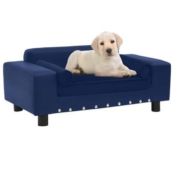 vidaXL Sofa za pse plava 81 x 43 x 31 cm od pliša i umjetne kože