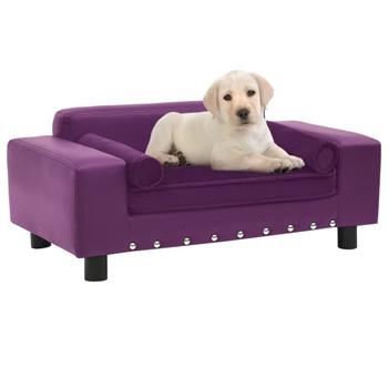 vidaXL Sofa za pse bordo 81 x 43 x 31 cm od pliša i umjetne kože