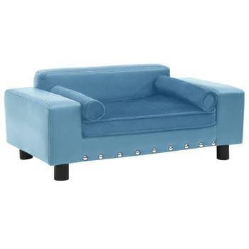 vidaXL Sofa za pse tirkizna 81 x 43 x 31 cm od pliša i umjetne kože