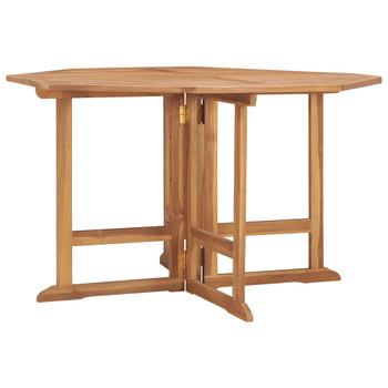 vidaXL Sklopivi vrtni blagovaonski stol 120x120x75 cm masivna tikovina