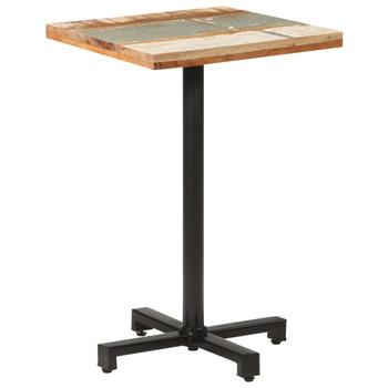 vidaXL Bistro stol četvrtasti 50 x 50 x 75 cm masivno obnovljeno drvo
