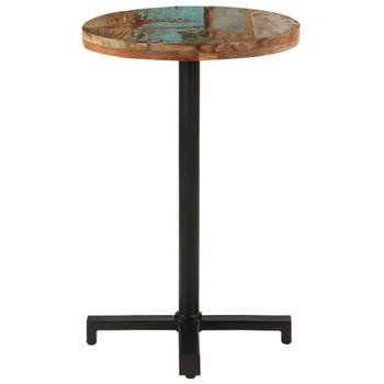 vidaXL Bistro stol okrugli Ø 50 x 75 cm od masivnog obnovljenog drva