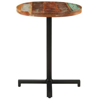 vidaXL Bistro stol okrugli Ø 60 x 75 cm od masivnog obnovljenog drva