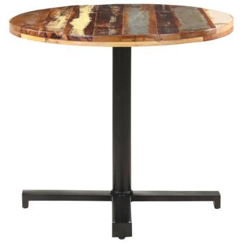 vidaXL Bistro stol okrugli Ø 80 x 75 cm od masivnog obnovljenog drva