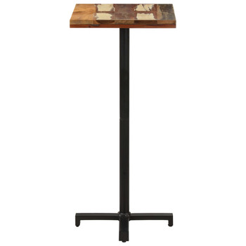 vidaXL Bistro stol četvrtasti 50 x 50 x 110 cm masivno obnovljeno drvo