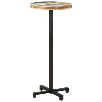 vidaXL Bistro stol okrugli Ø 50 x 110 cm od masivnog obnovljenog drva