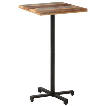 vidaXL Bistro stol četvrtasti 60 x 60 x 110 cm masivno obnovljeno drvo
