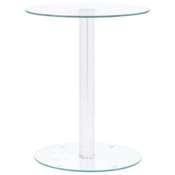 vidaXL Stolić za kavu prozirni 40 cm od kaljenog stakla