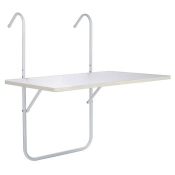 HI balkonski sklopivi stol bijeli 60 x 40 x 1,2 cm