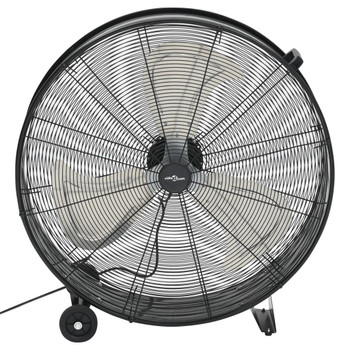 vidaXL Industrijski ventilator s bubnjem 77 cm 180 W crni