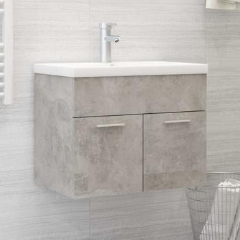 vidaXL Ormarić za umivaonik sivi boja betona 60x38,5x46 cm od iverice