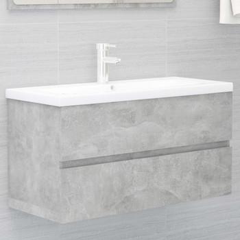 vidaXL Ormarić za umivaonik boja betona 90 x 38,5 x 45 cm od iverice