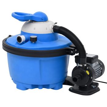 vidaXL Crpka s pješčanim filtrom plavo-crna 385x620x432 mm 200 W 25 L