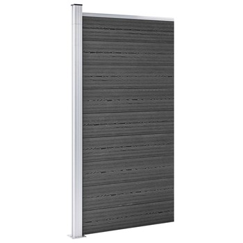 vidaXL Panel za ogradu WPC 95 x 186 cm crni