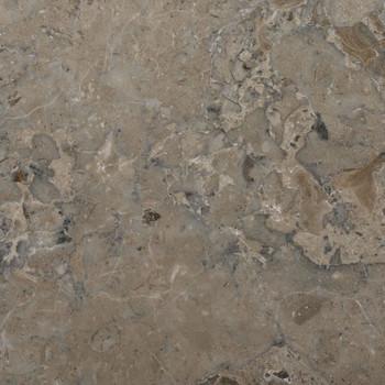 vidaXL Stolna ploča siva Ø 40 x 2,5 cm mramorna