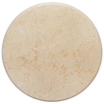 vidaXL Stolna ploča krem Ø 50 x 2,5 cm mramorna