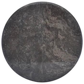 vidaXL Stolna ploča crna Ø 50 x 2,5 cm mramorna