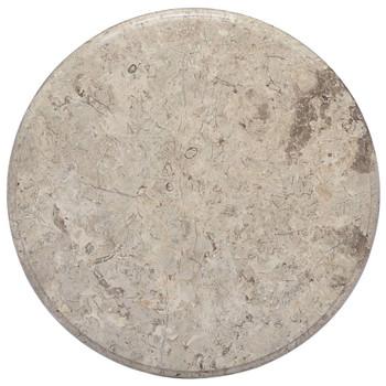 vidaXL Stolna ploča siva Ø 50 x 2,5 cm mramorna