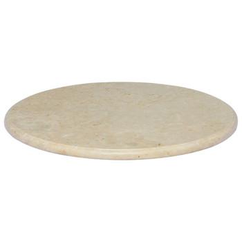 vidaXL Stolna ploča krem Ø 60 x 2,5 cm mramorna
