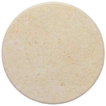 vidaXL Stolna ploča krem Ø 70 x 2,5 cm mramorna