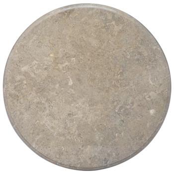 vidaXL Stolna ploča siva Ø 70 x 2,5 cm mramorna