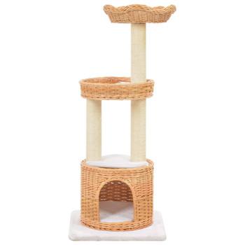 vidaXL Penjalica za mačke od prirodne vrbe sa stupovima za grebanje