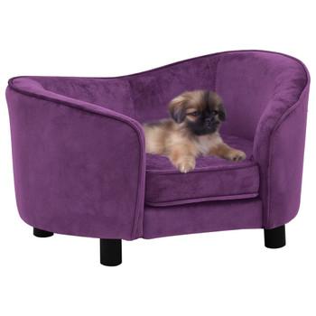 vidaXL Sofa za pse bordo 69 x 49 x 40 cm plišana