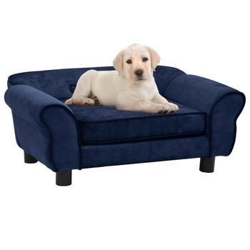 vidaXL Sofa za pse plava 72 x 45 x 30 cm plišana