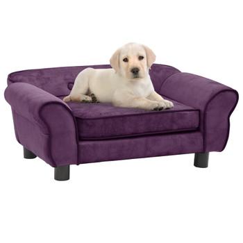 vidaXL Sofa za pse bordo 72 x 45 x 30 cm plišana