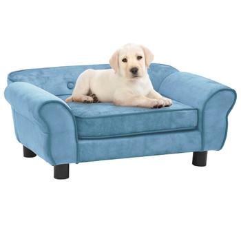 vidaXL Sofa za pse tirkizna 72 x 45 x 30 cm plišana