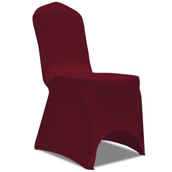 vidaXL Rastezljive navlake za stolice 100 kom bordo