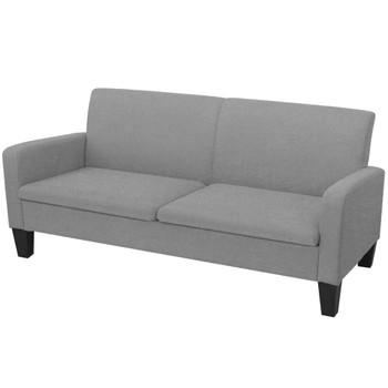 vidaXL 2-dijelni set sofa od tkanina svjetlosivi