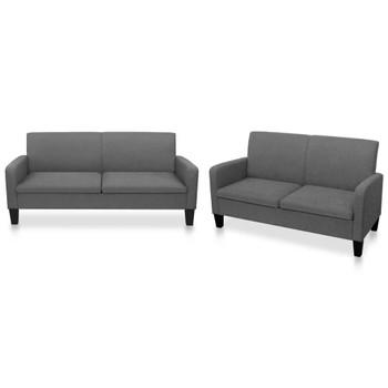vidaXL 2-dijelni set sofa od tkanina tamnosivi