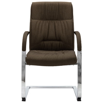 vidaXL Konzolna uredska stolica od tkanine smeđa