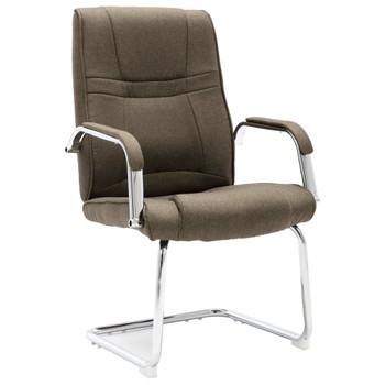 vidaXL Konzolna uredska stolica od tkanine smeđe-siva