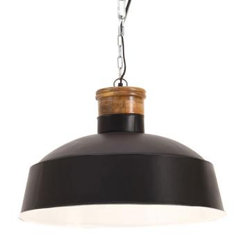vidaXL Industrijska viseća svjetiljka 58 cm crna E27