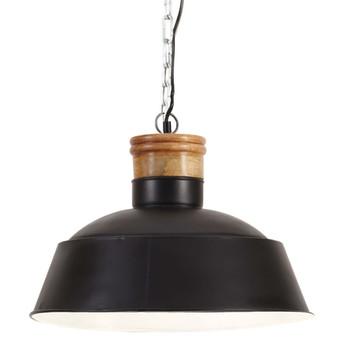 vidaXL Industrijska viseća svjetiljka 42 cm crna E27