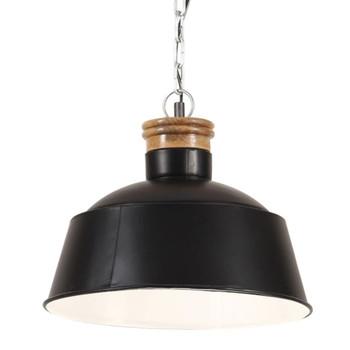 vidaXL Industrijska viseća svjetiljka 32 cm crna E27
