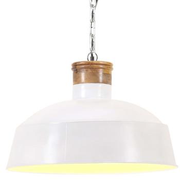 vidaXL Industrijska viseća svjetiljka 42 cm bijela E27