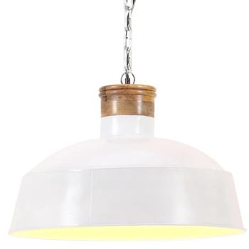vidaXL Industrijska viseća svjetiljka 32 cm bijela E27