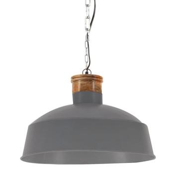 vidaXL Industrijska viseća svjetiljka 58 cm siva E27